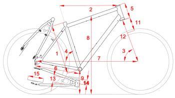 Konstruktionsmerkmale Fahrradrahmen